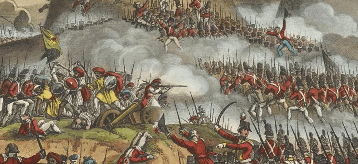 جنگ کمپانی هند شرقی و نیروهای حکومت هند