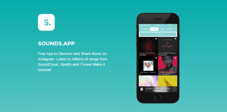 با برنامه SoundsApp در اینستاگرام موسیقی به اشتراک بگذارید