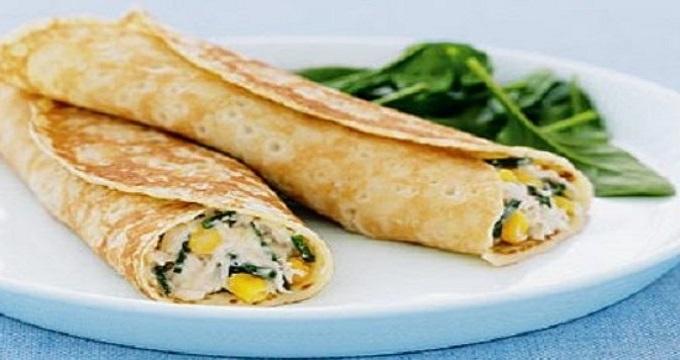 غذای اصلی/ طرز تهیه کرپ مرغ و سبزیجات