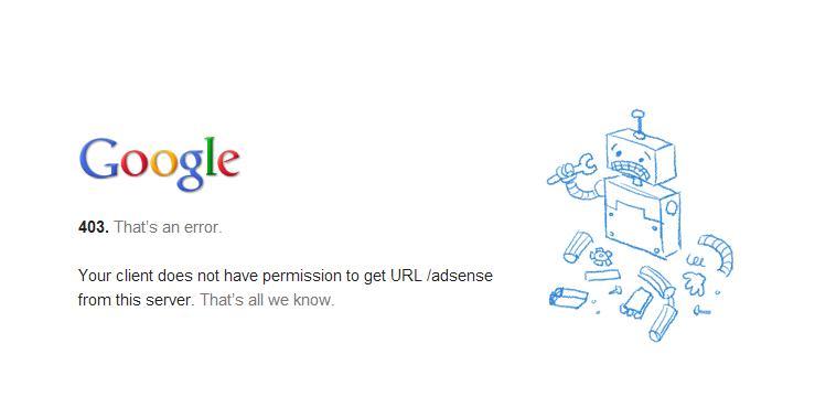 خطای دسترسی گوگل