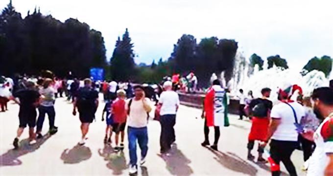 فیلم / محل تجمع هواداران ایران و مراکش ساعاتی قبل از بازی