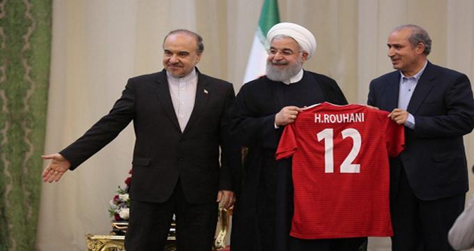 بدرقه تیم ملی به جام جهانی توسط رئیس جمهور
