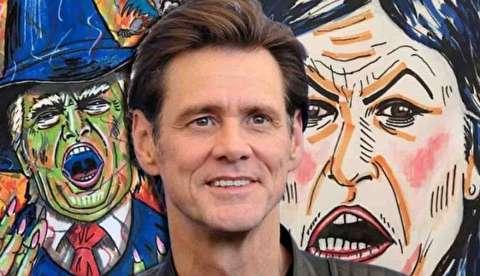 فیلم / جیم کری با نقاشی به جنگ ترامپ می رود