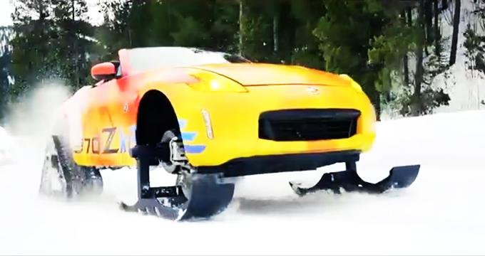ویدئو/ نیسان با مدل مفهومی «370Zki» به جنگ زمستان می رود