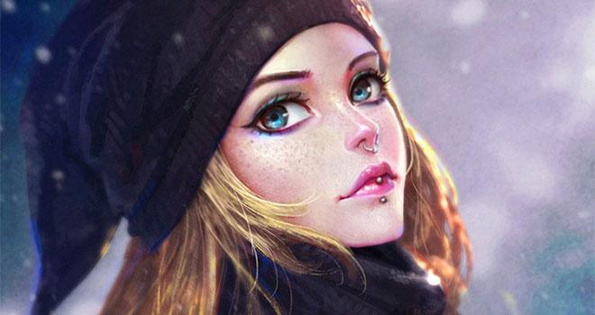 دختر زیبا
