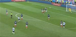 فیلم / گل سوم آرژانتین به فرانسه (آگوئرو)