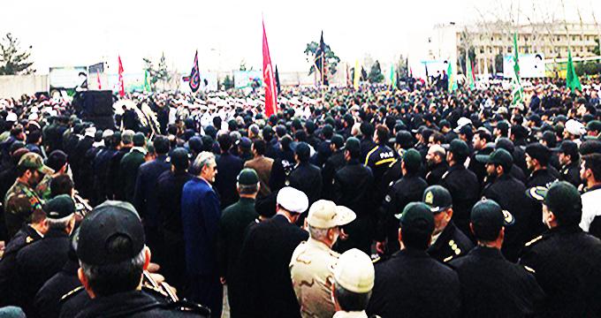 فیلم / آغاز مراسم وداع با پیکر شهدای نیروی انتظامی