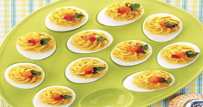 غذای اصلی/ «خوراک تخم مرغ» با تزئینی زیبا و هنرمندانه