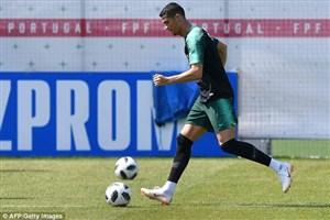 فیلم / تمرین تیم ملی پرتغال پیش از تقابل با ایران