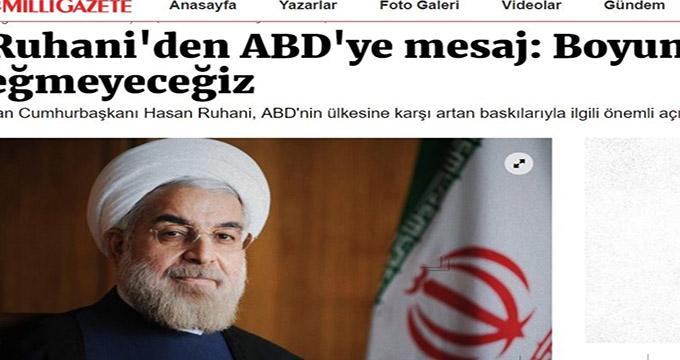 بازتاب اظهارات روحانی در رسانه های ترکیه ای