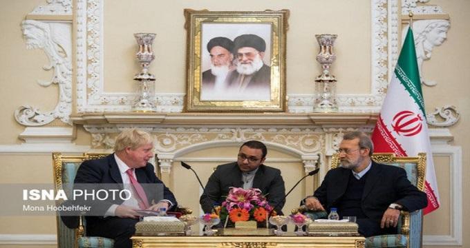 انتقاد لاریجانی از عدم همکاری اقتصادی انگلیس پس از برجام
