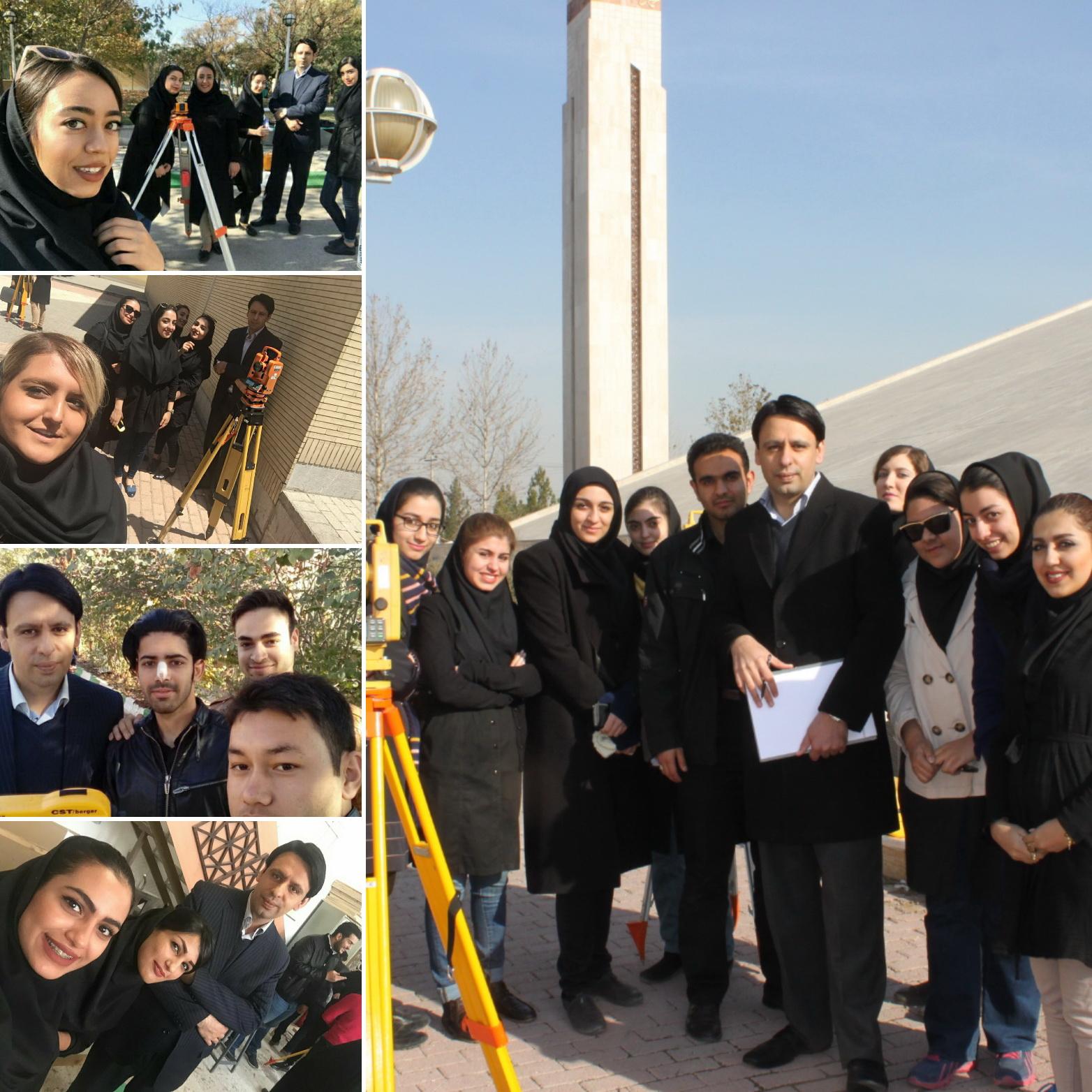 دکتر رامین صمدی و دانشجویان ایشان