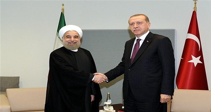 دیددار روحانی و اردوغان پشت درهای بسته