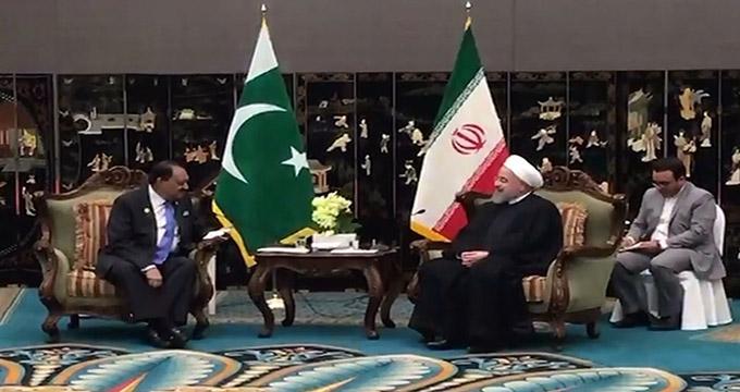 دیدار ریس جمهور ایران و پاکستان در چین