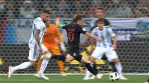 فیلم / گل دوم کرواسی به آرژانتین با شوت دیدنی مودریچ