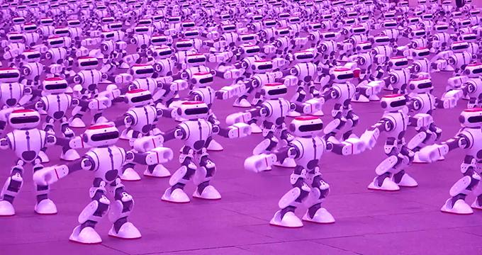 ویدئو/ رکورد گینس در هماهنگی بی نقص بیش از 1000 روبات
