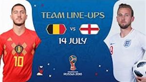 فیلم / شماتیک ترکیب دو تیم انگلیس - بلژیک