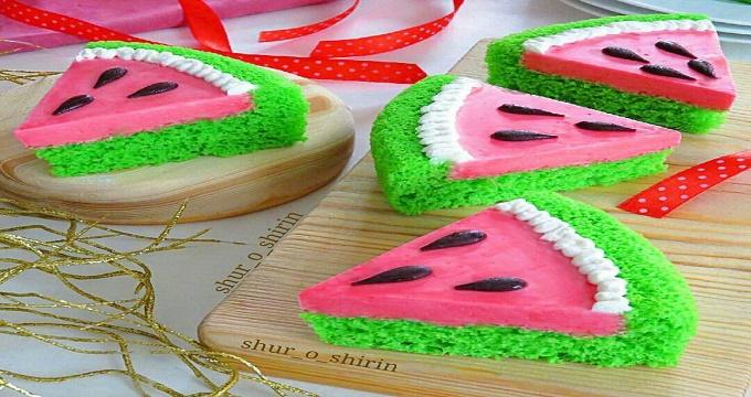 شیرینی ها. طرز تهیه «چیز کیک هندوانه»