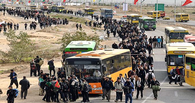 ترافیک بازگشت زائران اربعین در مرز مهران