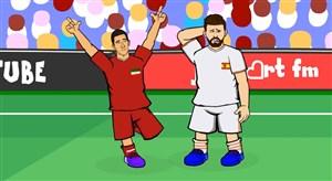 فیلم / انیمیشن طنز از بازی ایران و اسپانیا