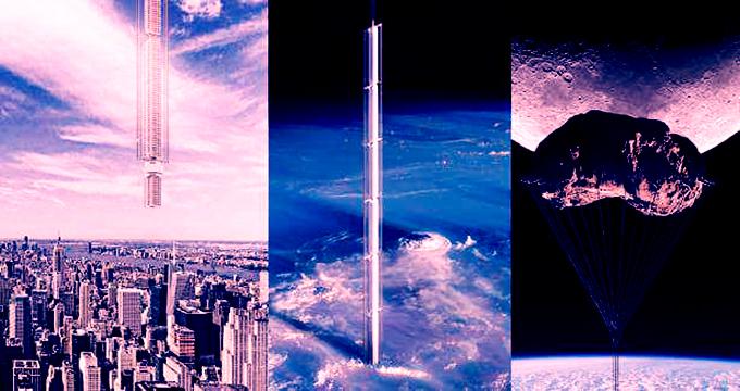 ویدئو/ پروژه عجیب ساختمان سازی فضایی