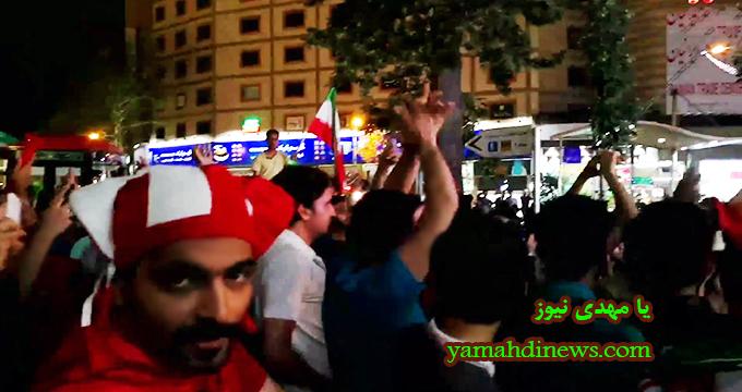 فیلم / گل ایران و شادی هواداران در خیابان