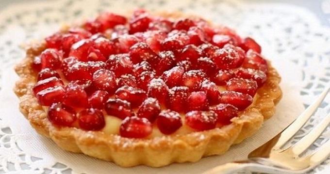 شیرینی ها/ تارت انار یک خوراکی خوشمزه برای دورهمی شب یلدا