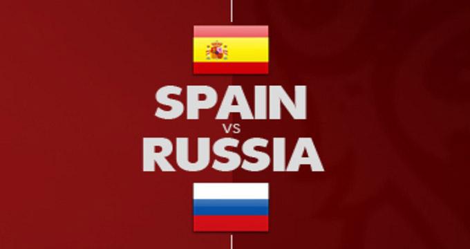 گل اول اسپانیا به روسیه (گلبهخودی ایگناشویچ)