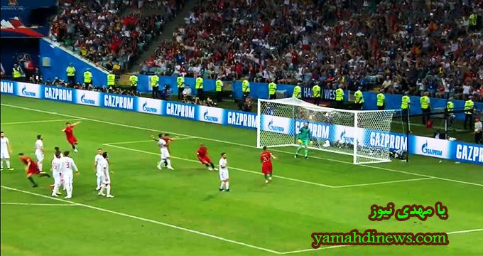 فیلم / کاشته دیدنی و هتریک رونالدو و گل سوم پرتغال در مقابل اسپانیا