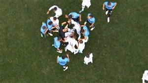 فیلم / درگیری بازیکنان اروگوئه و فرانسه در جریان بازی
