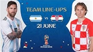 فیلم / شماتیک ترکیب تیم های آرژانتین و کرواسی