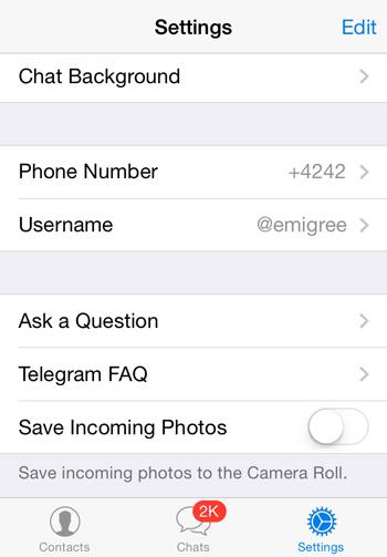 نحوه تغییر شماره موبایل در تلگرام