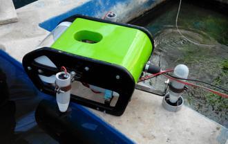 تست آب بندی ربات زیردریایی