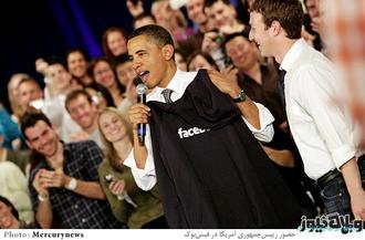 مالک واتس اپ در کنار اوباما