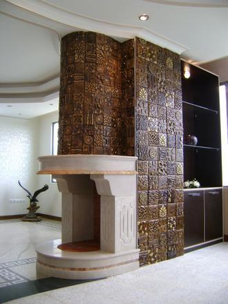 کاشی آشپزخانه - ل - اوپن - دکوراسیون داخلی - تی وی روم