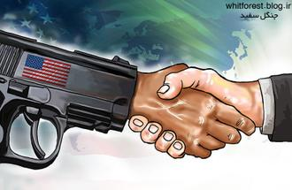 کاریکاتور مذاکره با آمریکا