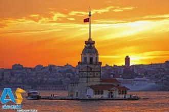برج دوشیزه و جزیره شاهزاده در استانبول