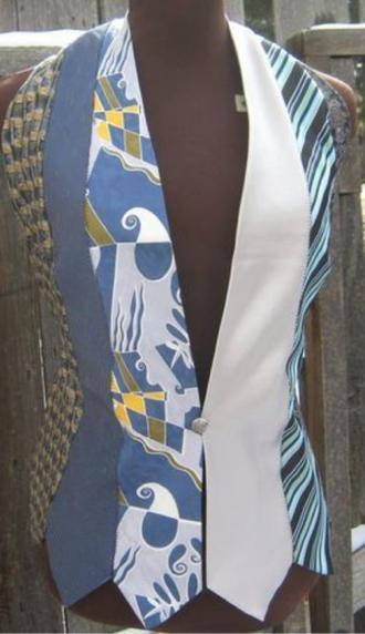 ایده جلیقه با کراوات  موزشگاه مقتدری