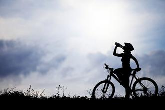 woman's activities in cycling