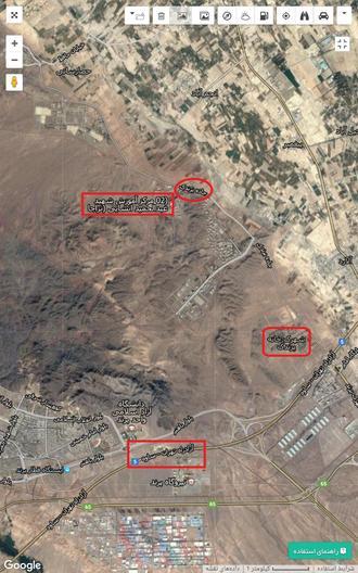پادگان سید عبدالحمید انشایی روی نقشه