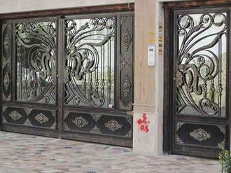 درب فلزی طرح پروانه