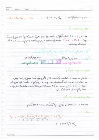 دانلود جزوه دست نویس استاد حسینی مدار منطقی دانشگاه آزاد تهران شمال