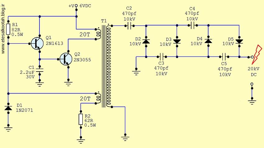 منبع تغذیه ی ولتاژ بالا برای راه اندازی لیزر گازی