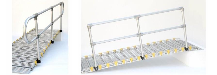 Portable Handicap Rails : سطح شیبدار و رمپ های ثابت متحرک بالابر