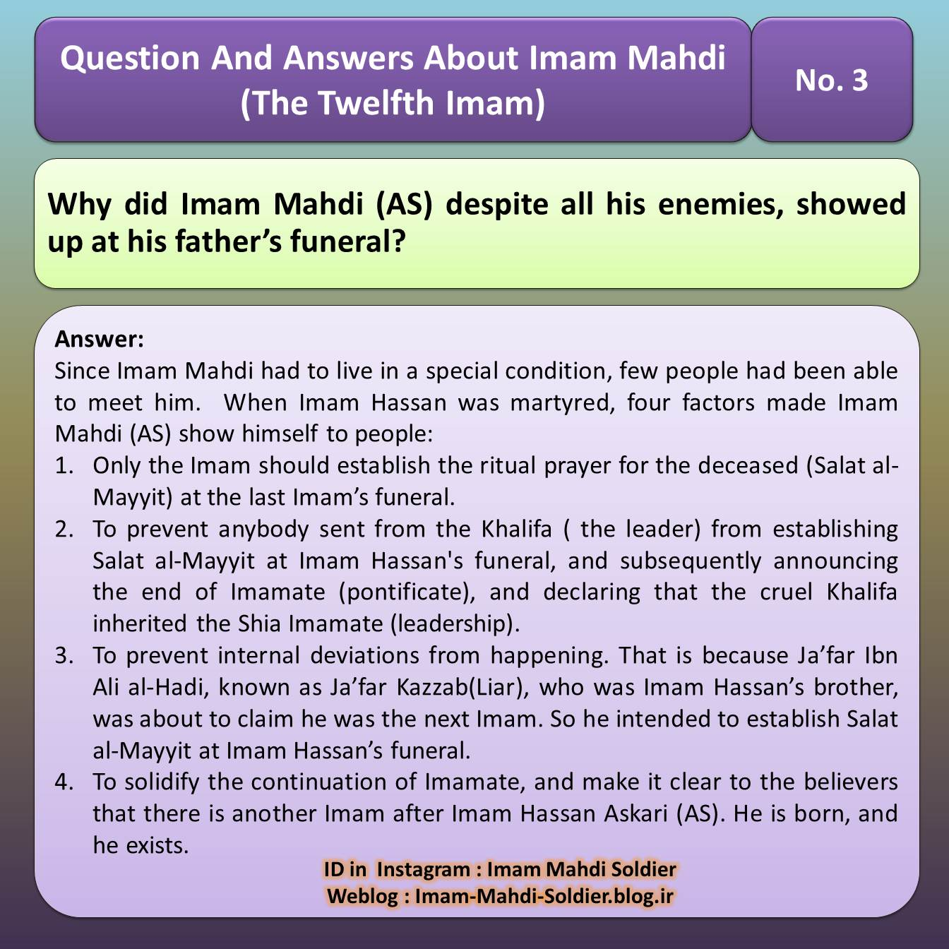 Question About Mahdi