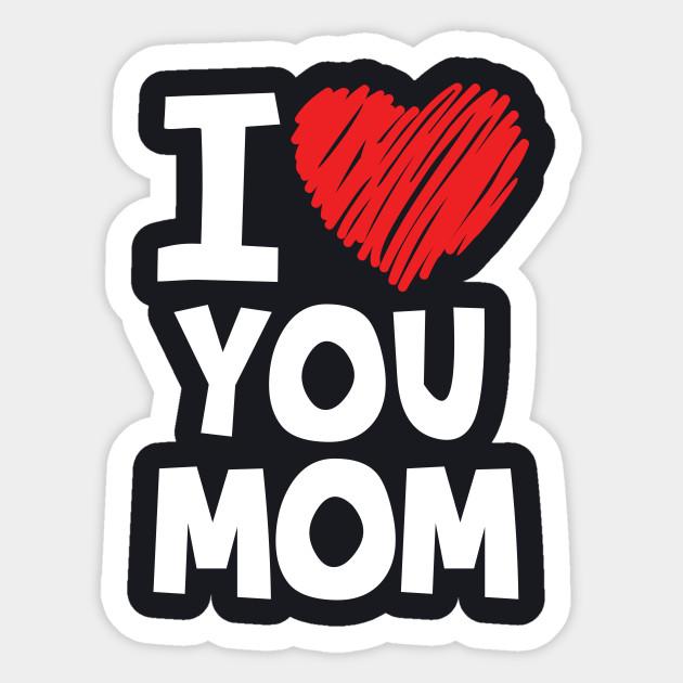 عکس نوشته i love you mom برای روز مادر
