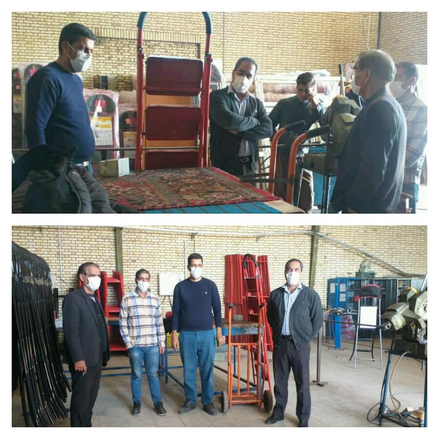 کارگاه ساخت نرده بان های پله ای  توسط کارآفرینان گرامی آقایان مداح و خاکساریان در وزوان راه اندازی شد