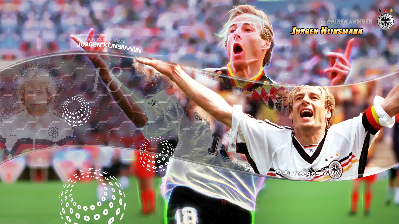 والپیپر یورگن کلینزمن مهاجم گلزن در جام جهانی