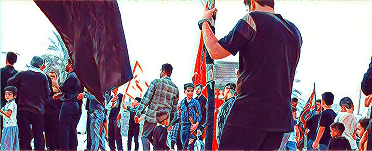 گزارش تصویری از مراسم استقبال و همراهی کاروان حسینی در بوشهر