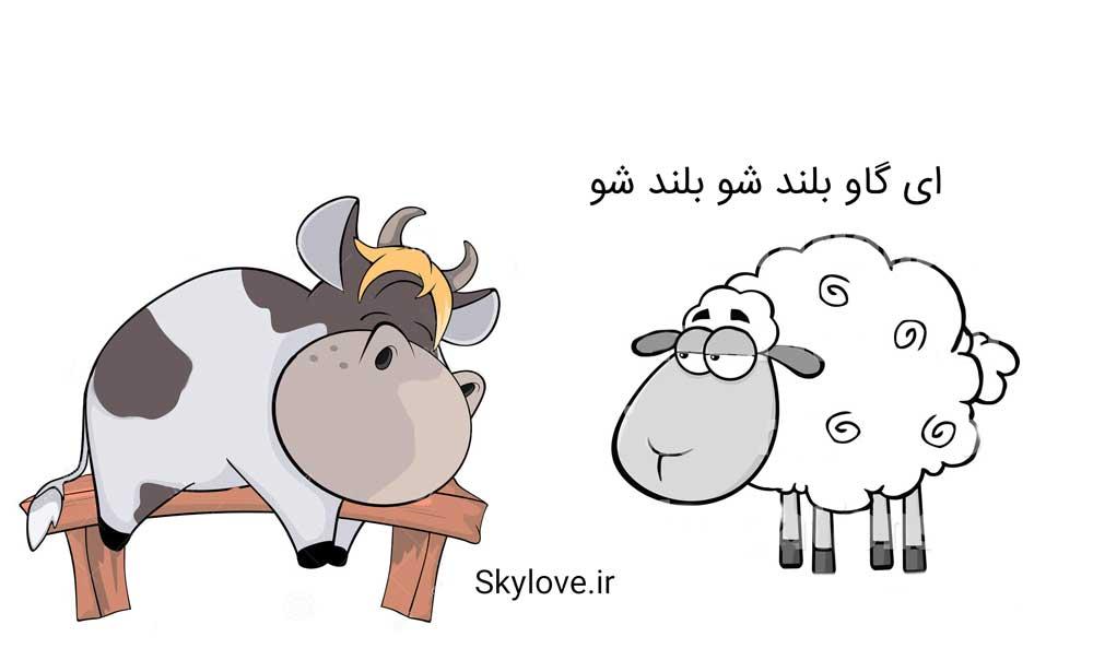 داستان طنز گاو و گوسفند